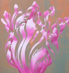 Roze Tulp - Addy Coumou - pastelkrijt