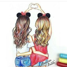 Pictures Best Friend Drawings Tumblr Best Drawing Sketch Girl Bff Drawing Pics S #drawings #art