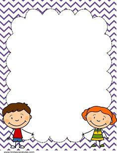 www.lindascaratulas.com: CARATULAS ESCOLARES Page Borders Design, Border Design, Borders For Paper, Borders And Frames, Drawing For Kids, Art For Kids, Natal Design, Molduras Vintage, Diy And Crafts