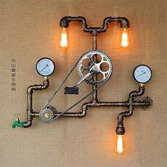 BL Industrial Rustic Steampunk Minimalist 3-light Water M...