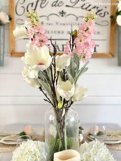 Pillar Candle Holders, Pillar Candles, Large Glass Vase, Long Stem Flowers, Stock Flower, Burlap Runners, Floral Garland, White Plates