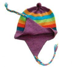 Bunte #Chullo aus #Alpakawolle, Kinder 5 - 10 Jahre  Gestrickt von unseren Strickerinnen in Cusco/ Peru aus warmer Alpakawolle. Durch die elastische Strickweise Einheitsgröße. Cusco Peru, Baby, Beanie, Fashion, Ponchos, Accessories, Winter Hats, Wool Blanket, 10 Years