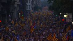 BBC News - Huge turnout for Catalan independence rally