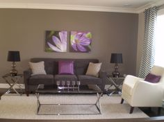 gray and purple living rooms ideas | Grey & Purple Modern Living - Living Room Designs - Decorating Ideas ...