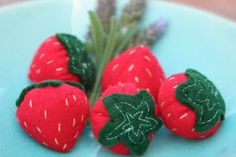 One Little Imp: Felt Strawberry