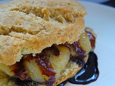 Caramelized Banana Shortcake with Chocolate Syrup - Sugiyarti Jorgenson's Recipes