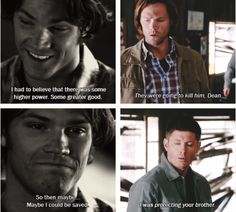 [SET OF GIFS] 2x13 Houses of the Holy & 9x02 Devil May Care ... AAWWWW!! #Supernatural