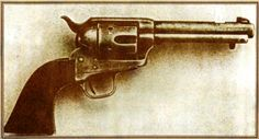 This Frontier Model Colt was taken from Frank Stilwell's body. It is a .45 caliber single action serial number 1381. The intriguing aspect of this gun is it could possibly be the Morgan Earp murder weapon. Photo courtesy of Harry Stewart.