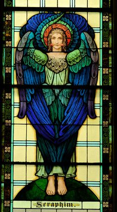 Image result for seraphim stained glass