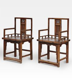 Attualmente nelle aste di #Catawiki: Carved camphor wood chairs - China - 19th century