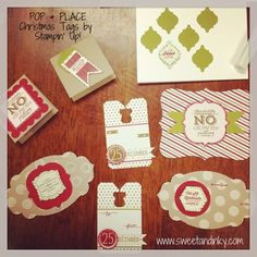 Pop and place holiday tags from stampin up 30 easy do it yourself getting an early start on christmas tags solutioingenieria Gallery