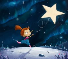 Lost little star - Children's Illustrations by Lucy www.lucyflemingillustrations.com