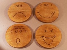 "These are my ""Mr Coasters"" I made. Have a bit of fun with were you put your drink."
