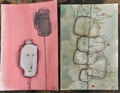 Abstract small works pink vs mint green Graphic Projects, Small Words, Vs Pink, Mint Green, Abstract, Summary