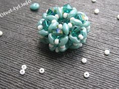 Bead woven with bicones and superduo
