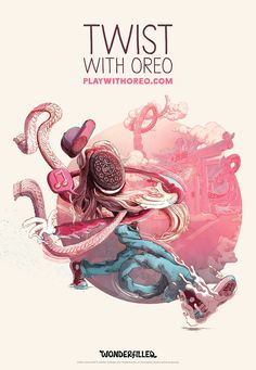 brand campaign Oreo Gets 10 Artists to Produce Beautifully Dreamy Outdoor Illustrations Poster Ads, Typography Poster, Illustrator, Illustration Arte, Brand Campaign, Advertising Campaign, Creative Posters, Creative Advertising, Art Design