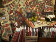 French General at Country Threads Quilt Shop in Garner Iowa. Craft Booth Displays, Shop Displays, Quilt Shops, Quilt Display, French General, English Paper Piecing, Fabric Shop, Road Trips, Iowa