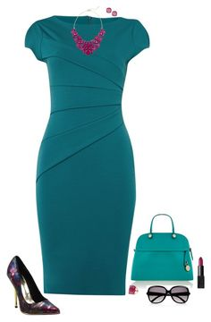 """Teal & purple"" by julietajj on Polyvore featuring Jessica Wright, Luichiny, Eye Candy, Furla, NARS Cosmetics and Chloé"