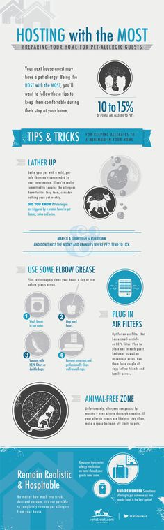 8 Ways to Prepare for Guests With Cat and Dog Allergies. Learn more here! www.aspca.org/pet-care/are-you-allergic-your-pet