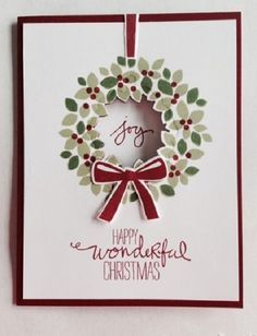 stampin up peaceful wreath - Google Search