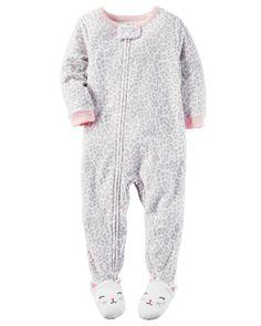 Baby Girl 1-Piece Fleece PJs | Carters.com