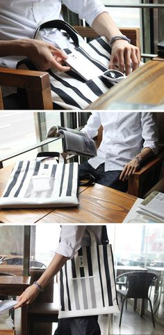[BABOSARANG] 남녀노소 누구나 어울리는 베이직한 잇백 /가방/크로스백/스트라이프/패턴/데님/스타일/패션/코디/여자가방/남자가방/Bags/stripe/pattern/jeans/style/fashion/Denim  #RePin by Dostinja - WTF IS FASHION featuring my thoughts, inspirations & personal style -> http://www.wtfisfashion.com/