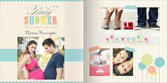 Baby shower photo book