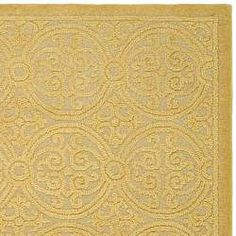 Safavieh Handmade Moroccan Cambridge Gold Wool Rug (6' x 9')