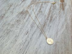 Gold necklace gold coin necklace coin jewelry delicate by Avnis, $28.00