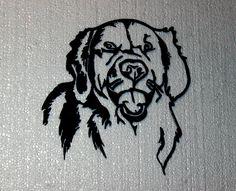 Golden Retriever Head Front View Metal Wall Art Home Decor