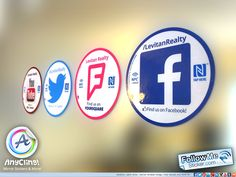 The latest and greatest Circle social media stickers - beautiful glossy and removables for mirror, glass and other smooth surfaces. For more info visit http://followmesticker.com
