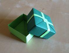 Green #Origami #box