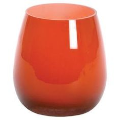 Add a splash of citrus to your living room or bedroom with this spring-ready vase.  Product: VaseConstruction Material: GlassColor: RedDimensions: 7 H x 5 Diameter