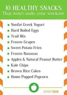 Healthy post-workout snacks