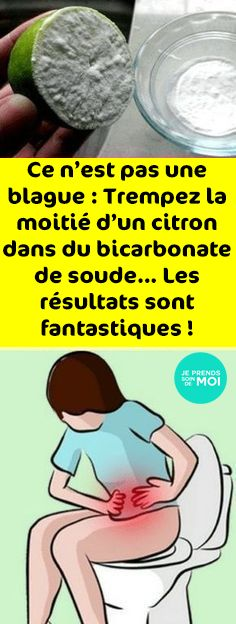 Ce n'est pas une blague : Trempez la moitié d'un citron dans du bicarbonate de soude… Les résultats sont fantastiques ! First Time Pregnancy, Pregnancy Tips, Healthy Tips, Health Fitness, Medical, Nutrition, Sport, Diet, Health