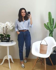 Stylish Summer Outfits, Casual Fall Outfits, Classy Outfits, Vintage Outfits, Indie Outfits, Girly Outfits, Fashion Outfits, Look Jean, Mom Jeans Outfit