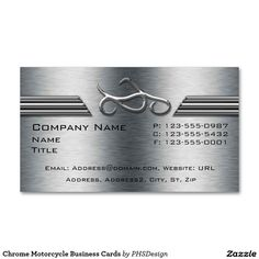 Chrome Motorcycle Business Cards