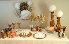 New Year's Party Table #newyears #partytable