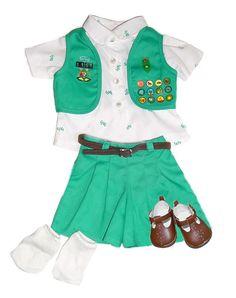 "An ""American Girl"" doll's Junior Girl Scout uniform (1994-2001)"