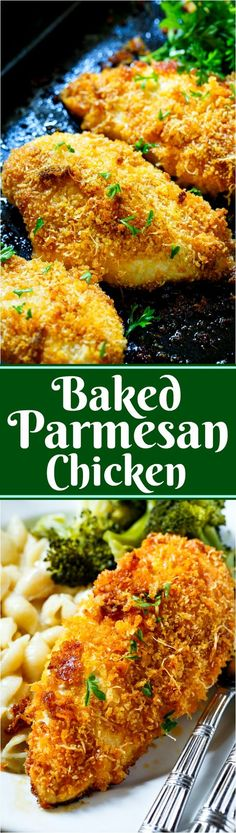 Baked Parmesan Chicken is coated in mayonnaise to keep it super tender.