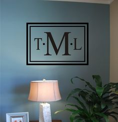 Classic Rectangle Monogram  Vinyl Wall Decal by homesweetwalls, $28.00