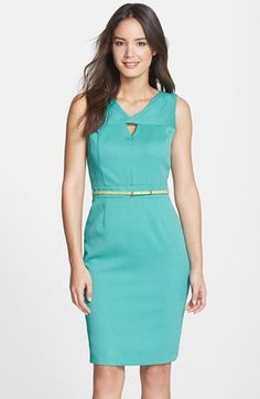Ellen+Tracy+Cutout+Textured+Sheath+Dress+available+at+#Nordstrom