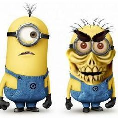 Minion and Achmed! Appropriate for DAY OF THE DEAD South of the Border idea...