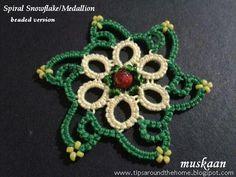 muskaan's T*I*P*S: Spiral Snowflake Pattern