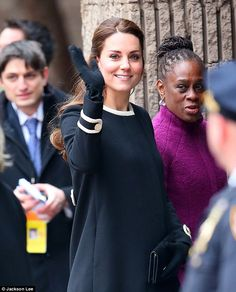 Safety: Kate Middleton famously suffered acute morning sickness at the beginning of her pregnancy, and it seems the every precaution is being taken to ensure her well-being on her visit to New York City this week