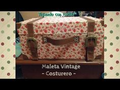 DIY: Maleta Vintage - Costurero - YouTube