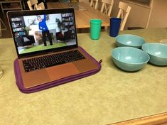 Fit2B on a laptop in a member's kitchen. Workout with us anywhere, anytime, on any device! -fit2b.com Diastasis Recti Exercises, Free Move, Fitness Tips, Workouts, Laptop, Studio, Kitchen, Cooking, Fitness Hacks