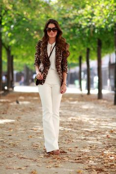 Meu Look: Branco & animal print