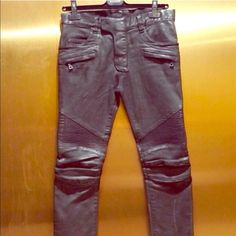 Balmain leather pants size 32 & 33 Beautiful real blue leather Balmain inspired pants in a size 32 & 33. These are the highest quality leather around same as used on actually Balmain leather pants!! (You will be amazed by the leather!!) Please look at all photos before purchasing!!! What you see is what you get!! Retails 440.00 Balmain Jeans Balmain Jeans, Fashion Tips, Fashion Design, Fashion Trends, Leather Pants, Inspired, Photos, Blue, Vintage