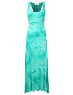cb59ba650c NINEXIS Women s Sleeveless Tank Top Style Maxi Dress with... https